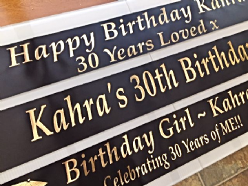 30th Birthday Banner Personalised